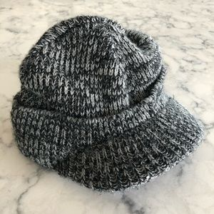 Other - Soft knit hat with hard bill